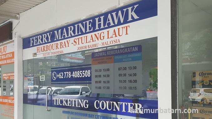 Jadwal Kapal Ferry Batam Malaysia dengan Marina Hawk