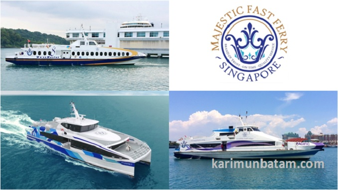 Jadwal Kapal Ferry Majestic Fast Ferry rute Batam Singapura