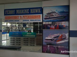 Jadwal Kapal Harbourbay Batam-Puteri Harbour Johor Malaysia dengan Ferry Marina Hawk